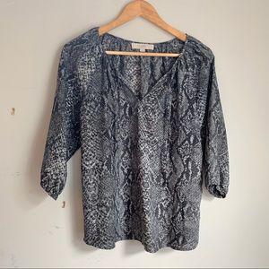 LOFT snakeskin blouse